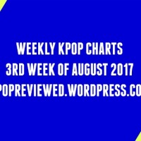 [Weekly Chart] 3rd Week of August 2017