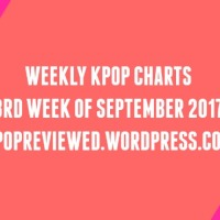 [Weekly Chart] 3rd Week of September 2017