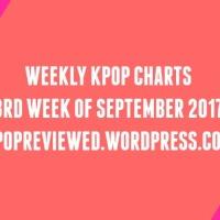 [Weekly Chart] 3rd Week of September 2017