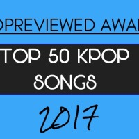 Top 50 KPOP Songs of 2017