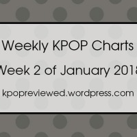 [Weekly Chart] 2nd Week of January 2018