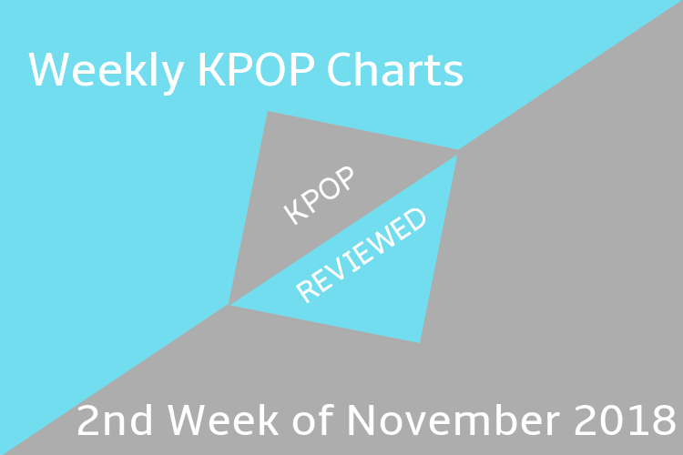 Weekly Chart] 2nd Week of November 2018 – KPOPREVIEWED