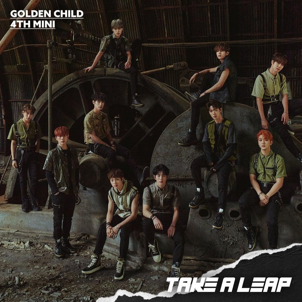 The album cover for Golden Child's fourth mini-album, Take A Leap.