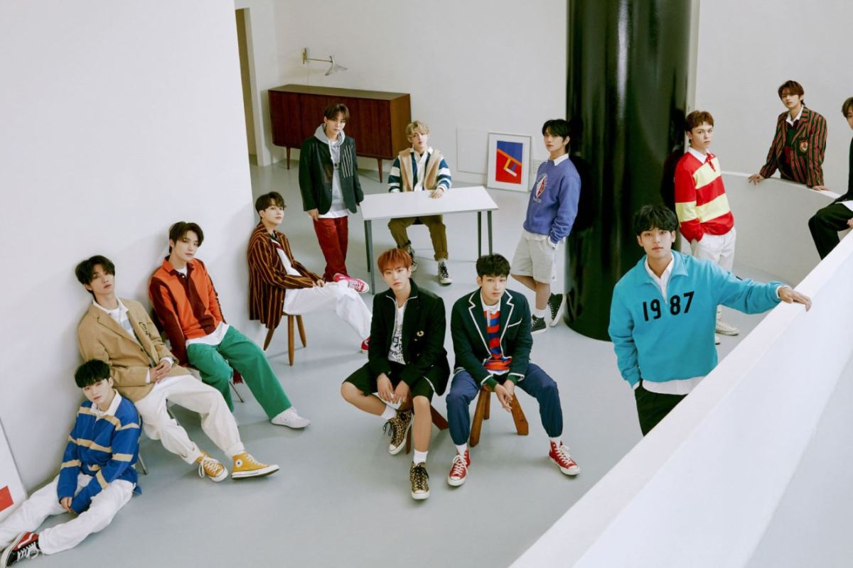 Teaser Image featuring all 13 Seventeen members for Semicolon album promotions.