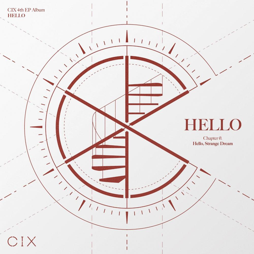Album art for CIX's fourth mini-album, Hello Chapter Ø. Hello, Strange Dream