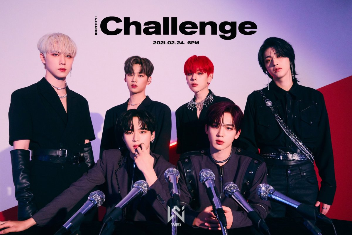 Teaser image of WEi for their Identity: Challenge mini-album release