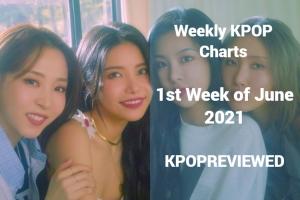 Weekly Charts 1st Week of June 2021 - KPOPREVIEWED